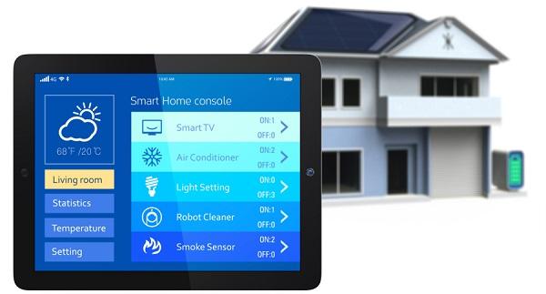 Casa Inteligente controlada pelo tablet