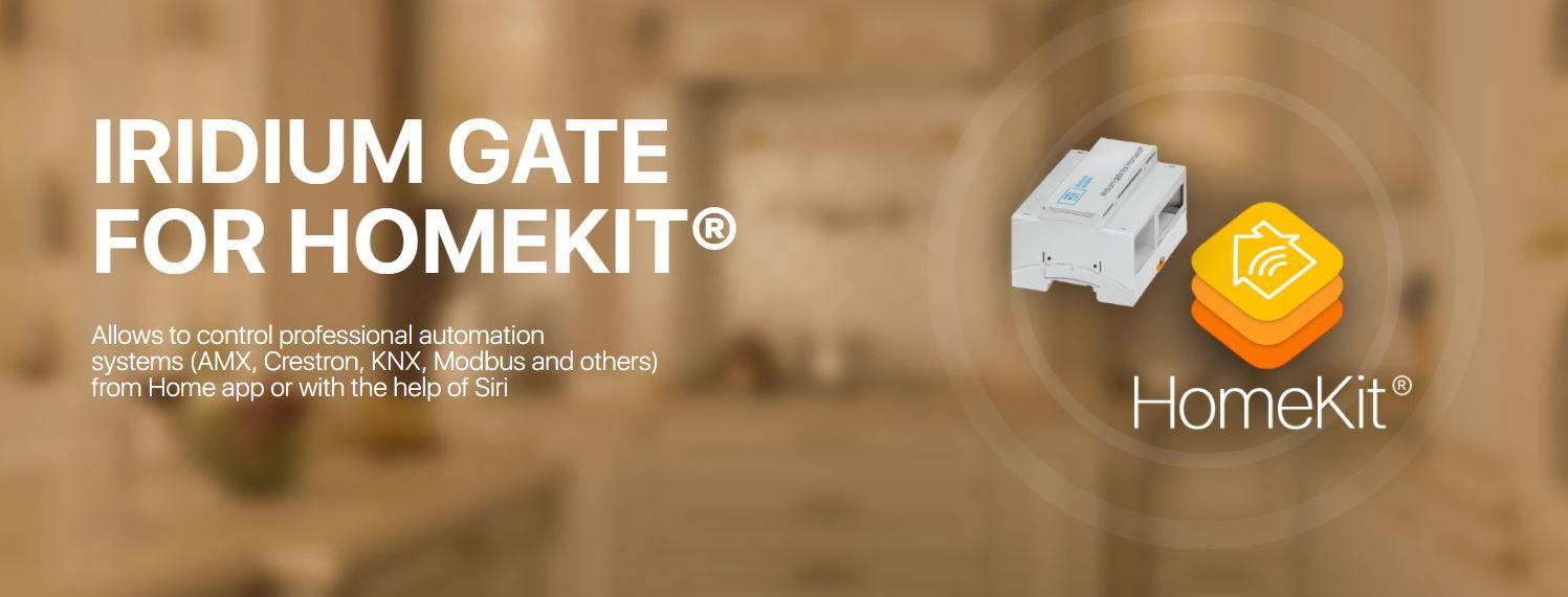 HomeKit integrado com sistema Iridium